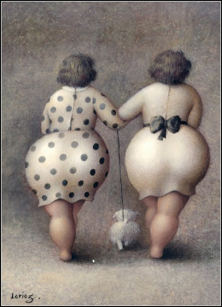 Женщины с внушительными формами. Юмористический арт от Jeanne Lorioz
