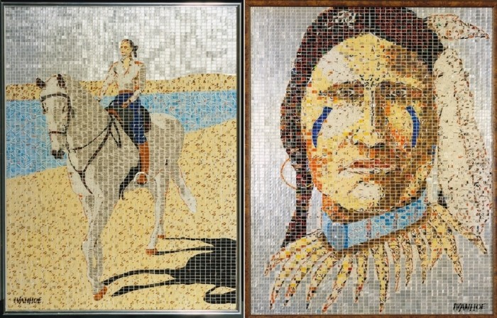 AluMosaics, картины-мозаики из алюминиевых банок