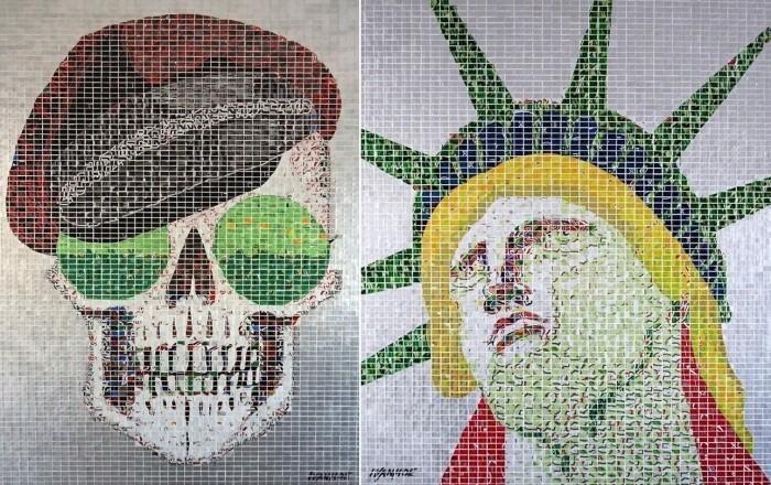 Арт-проект AluMosaics, картины-мозаики Джеффа Айвенго