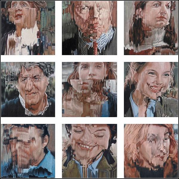Вдохновение неисправного телевизора. Необычные картины Йенса Гессе (Jens Hesse)
