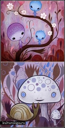 Акрилом по дереву. Картины Иеремии Кетнера (Jeremiah Ketner)