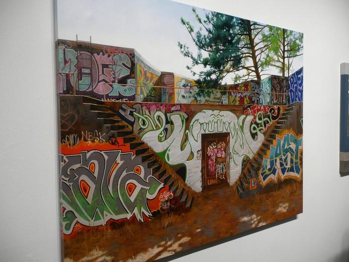Граффити на нарисованных стенах. Необычная живопись Джессики Гесс (Jessica Hess)