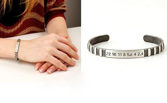 Серебряный браслет в виде кольца фокусировки от Craig Arnold