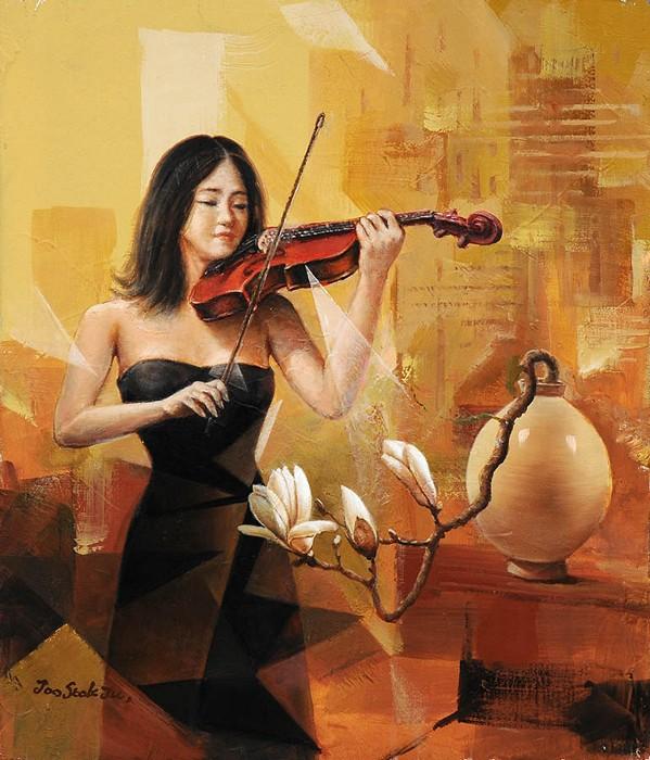 Музыкальные картины современного художника Joo Seok Ju