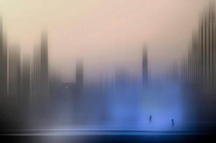 Море и город в концептуальных фотоработах Джоша Адамски