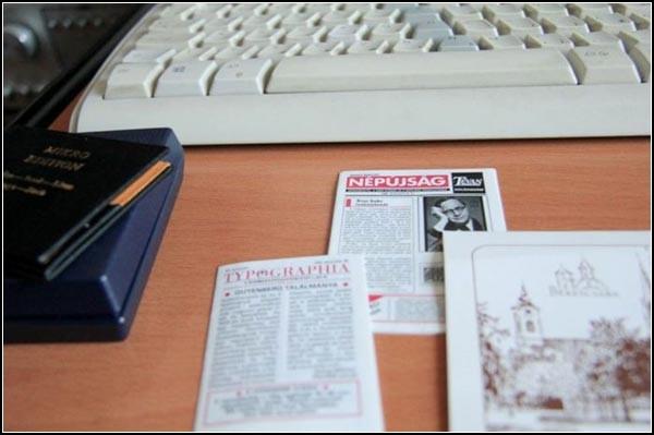 Миниатюрные газеты тоже есть в странной библиотеке