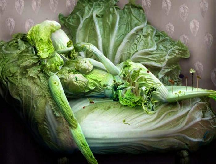 Скульптуры и картины из овощей от Ju Duoqi.