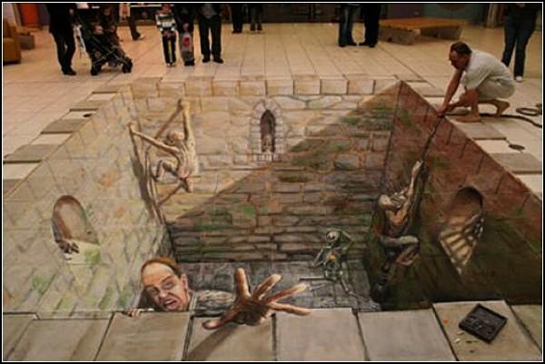 Трехмерные картины-иллюзии Джулиана Бивера (Julian Beever)