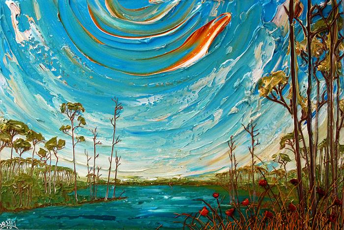 Объемная картина акриловой краской от Джастина Геффри