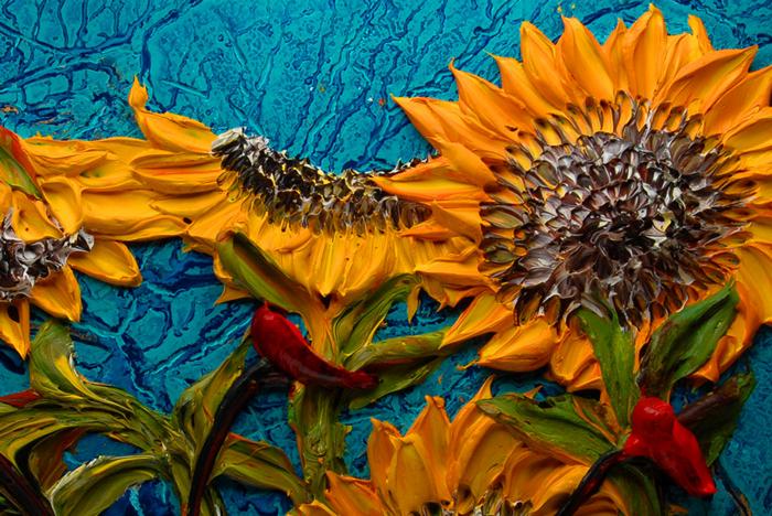 Объемные картины акриловой краской от Джастина Геффри (Justin Gaffrey)