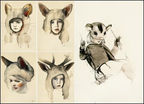 Дружба детей и животных. Творчество Карины Зерефос (Kareena Zerefos)