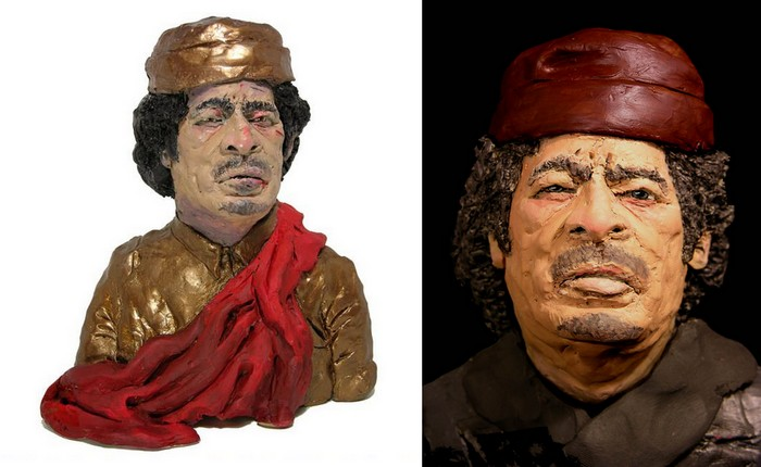 Муаммар Каддафи, ливийский лидер в пластилиновом *плену* Карен Колдикотт (Karen Caldicott)