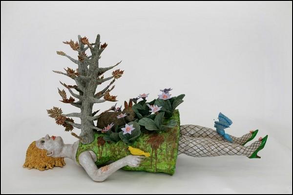 Женщина и природа в скульптурах Кэти Руттенберг (Kathy Ruttenberg)