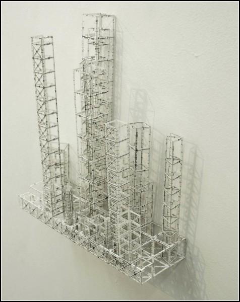 Футуристические бумажные небоскребы