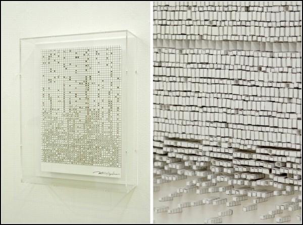 Футуристические бумажные инсталляции от Катсуми Хаякавы (Katsumi Hayakawa)