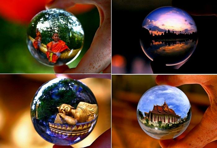 Странствия хрустального шарика. Арт-проект фотографа Киса Стравера