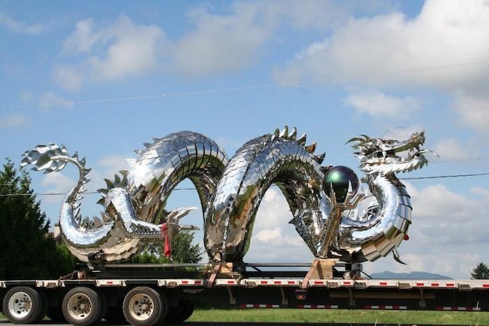 Скульптуры Кевина Стоуна (Kevin Stone), сделанные из нержавеющей стали