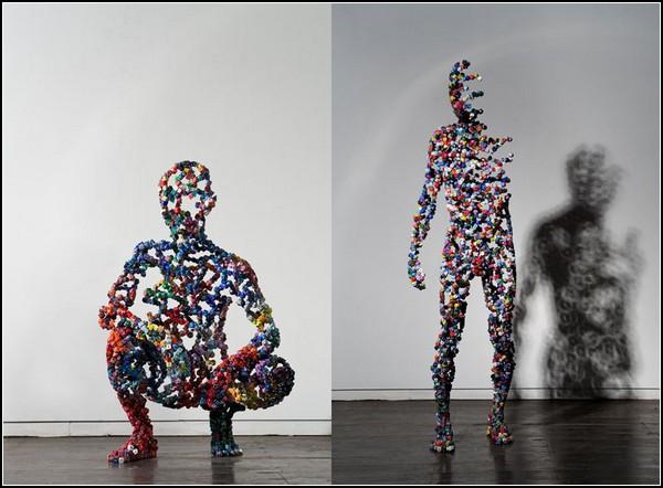 Dice Cast, скульптуры из игральных кубиков