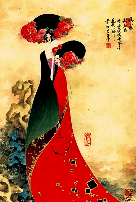 Традиционные китайские иллюстрации Кима Сюй (Kim Xu)
