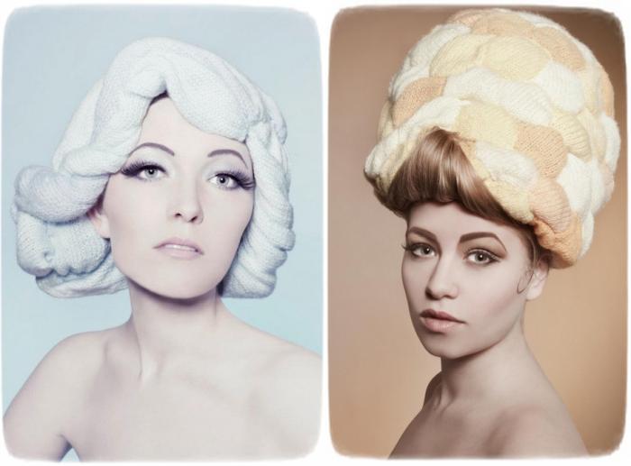 Вязаные прически-парики Wooly Heads от Луизы Уокер