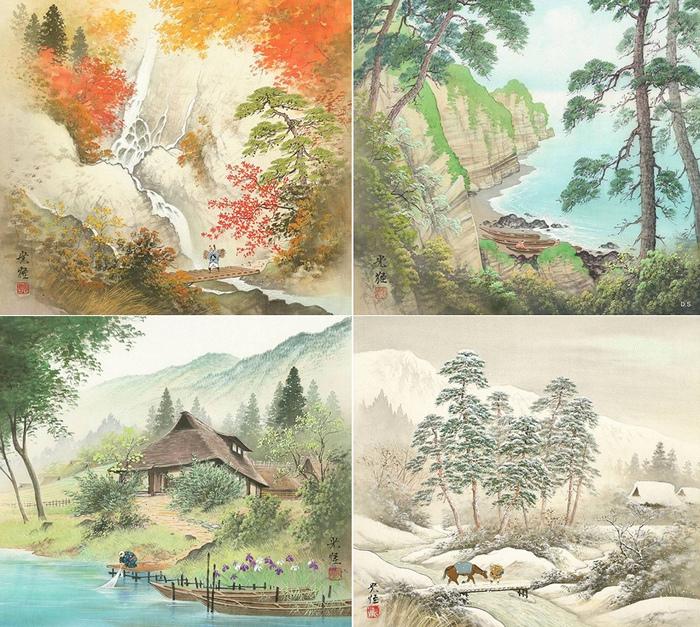 Пейзажи в стиле сансуй от японского художника Koukei Kojima