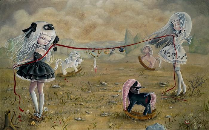 Нежная и жестокая живопись художницы  Кукула (Kukula)