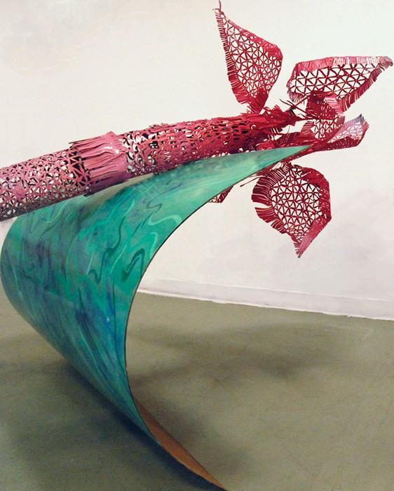 Сталь, похожая на кружево. Скульптуры Кайла Джеймса Данна
