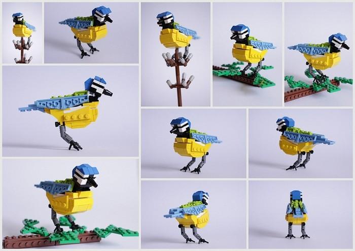 Британские птицы в скульптурах из Lego от Томаса Пулсома