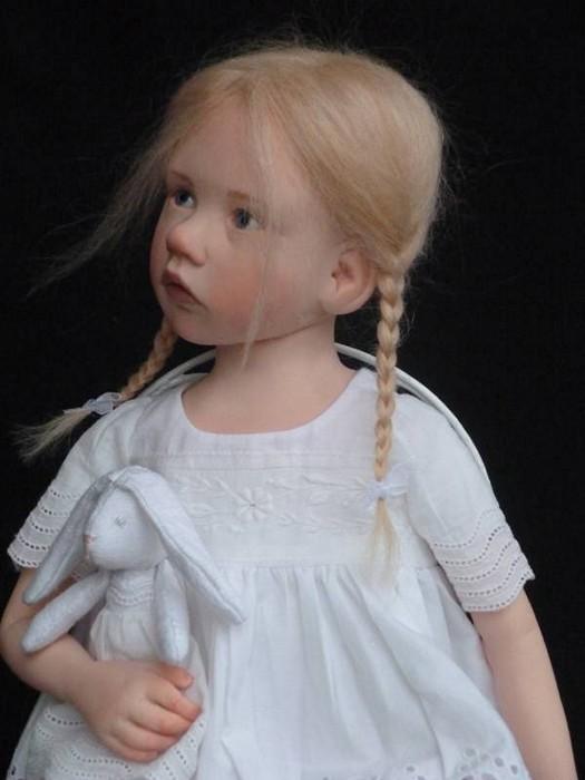 Кукольные малышки Лоуренс Руэ (Laurence Ruet), сделанные из фарфора