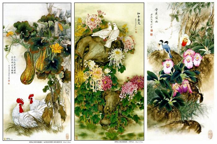 Китайские акварели о флоре и фауне от  Liang Yan Sheng
