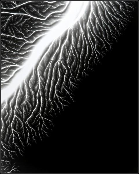 Lightning Fields. Фото самодельных молний от Hiroshi Sugimoto