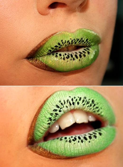 Арт-маскировка для губ. Умопомрачительный визаж от Sandra Holmbom