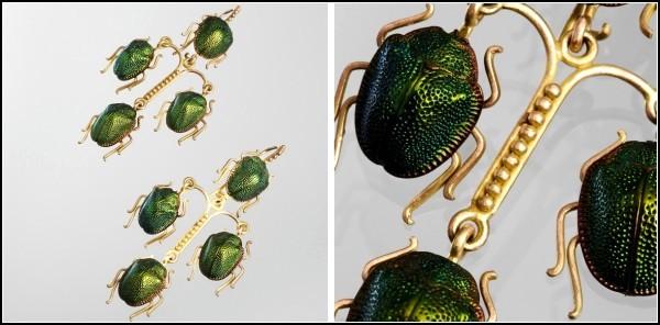 Scarabs Jewelry. Украшения из драгоценных жуков