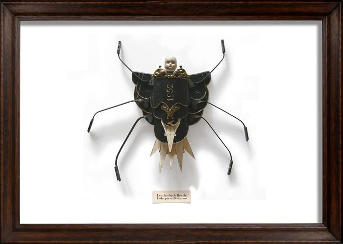 The Litter bug. Миниатюрные скульптуры жучков из разного мусора