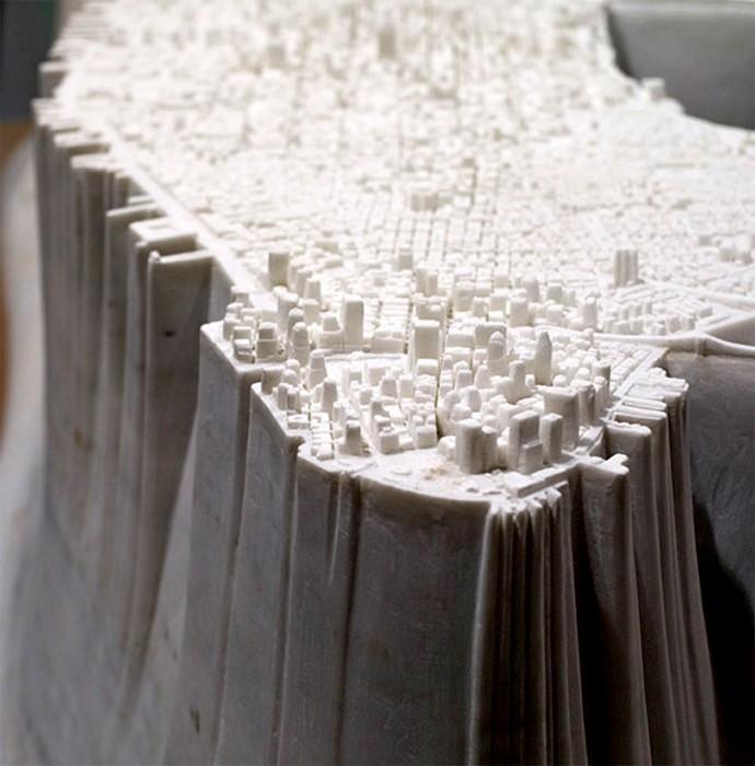 Little Manhattan, мраморный Манхэттен весом в 2,5 тонны