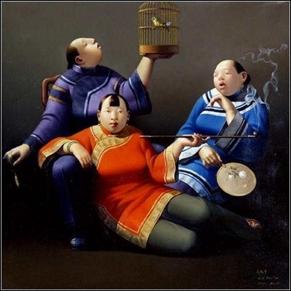 Дамы с курительными трубками. Лю Бао Джун (Liu Bao Jun)