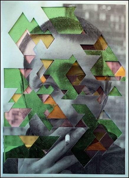 Фантастические коллажи из порезанных снимков от Лукаса Симоэса