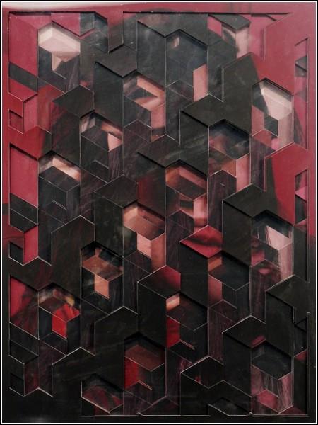 Коллажи-мозаика из кусочков фотографий и журнальных страниц. Творчество Лукаса Симоэса