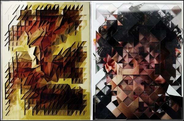 Необычное творчество Лукаса Симоэса: коллажи из искромсанных фото