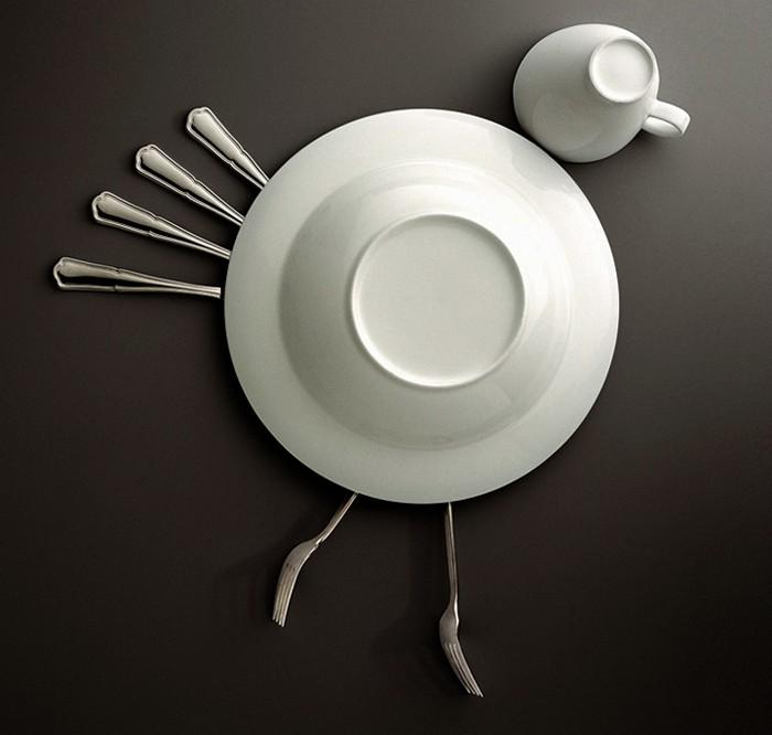 Необычное применение фарфоровой посуды