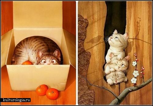 Кошачий позитив от Макото Мураматсу (Makoto Muramatsu)