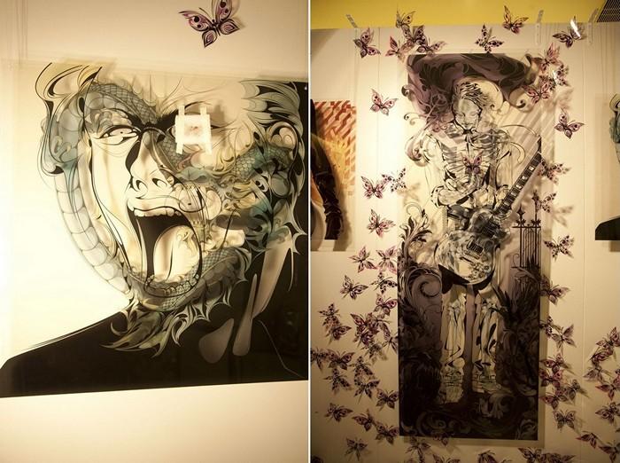 Картины из бумаги и пластика в исполнении Мэн Тсуна (Man Tsun)