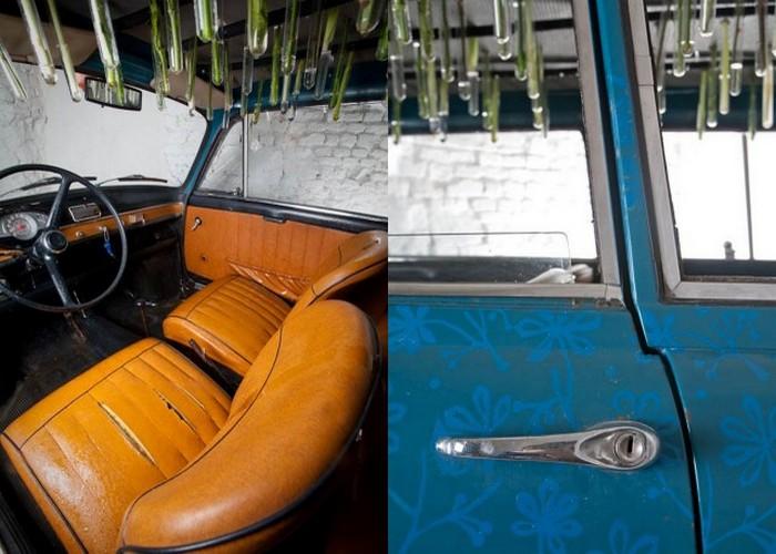 Giardinetta. Автомобиль, увенчанный цветами