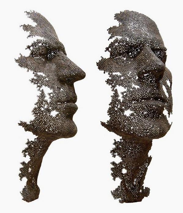 Скульптуры Мануэля Марти Морено из сотен железных гаек