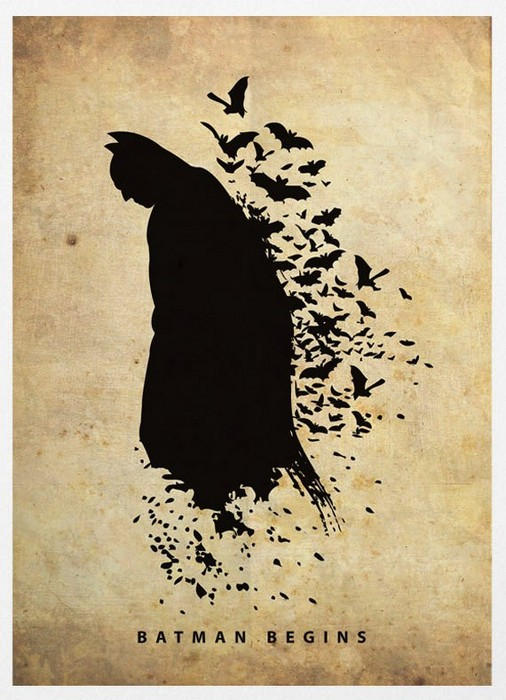 Бэтмен, минималистичный постер от Маркуса (Marcus)