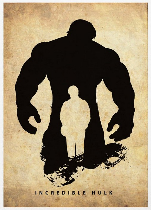 Постер-силуэт Невероятного Халка от Маркуса (Marcus)