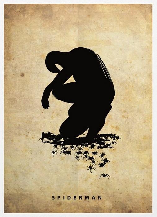 Человек-паук, силуэтный постер от Маркуса (Marcus)