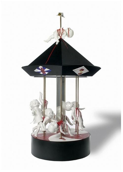 Мясо, кровь, кишки в фарфоровых скульптурах от Maria Rubinke