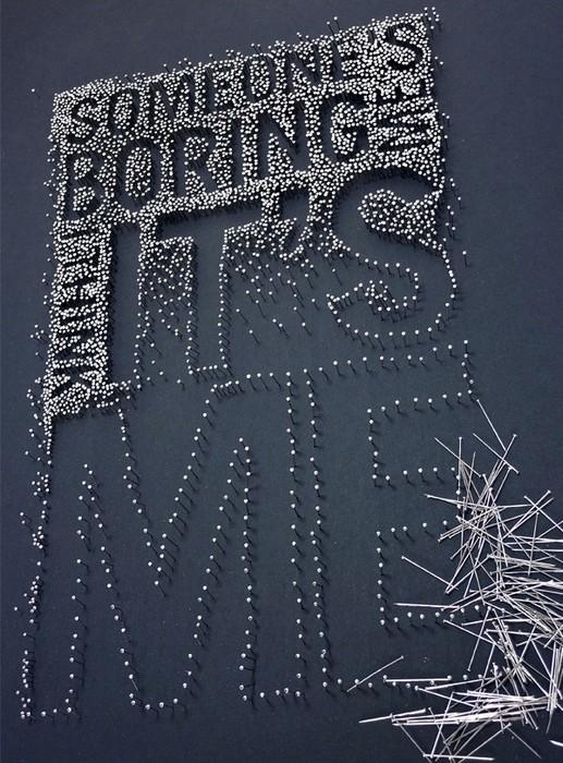 Картины из гвоздей и иголок в арт-проекте Pins and Needles
