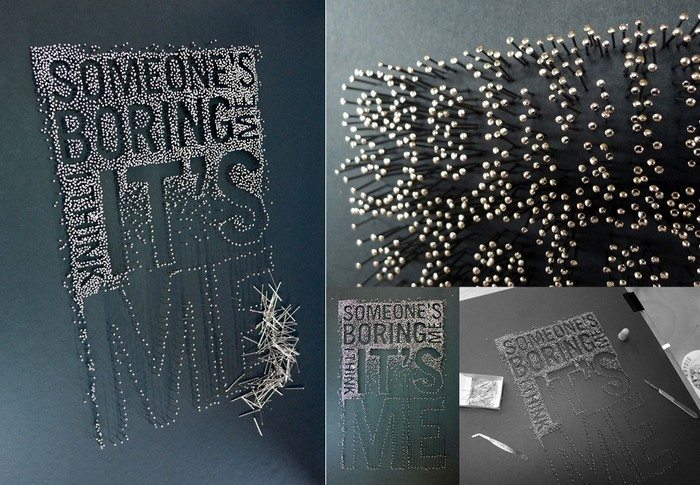 Экспериментальное творчество из гвоздей и иголок. Арт-проект Pins and Needles Мартина Пайпера